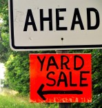 Yard Sale Ahead